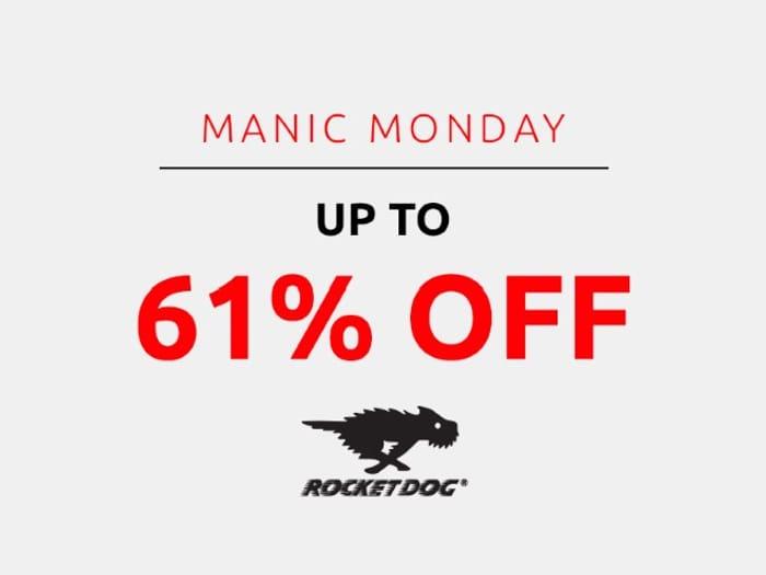 Save up to 61% on Rocket Dog | Manic Monday