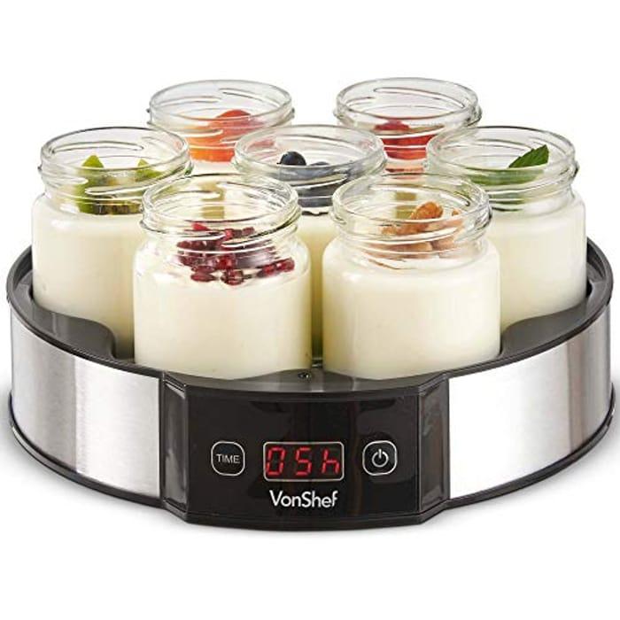 VonShef Digital Yoghurt Maker with 7 Jars