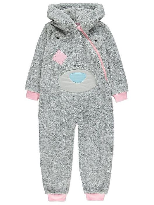 Tatty Teddy Grey Fleece Onesie