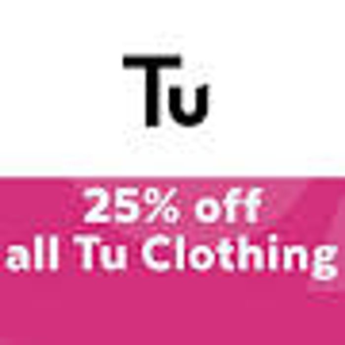 Sainsbury's Launch 25% off All Tu Clothing
