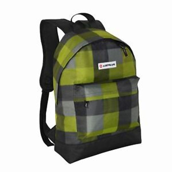 Airwalk All over Print Backpack Back Pack Zip Pattern