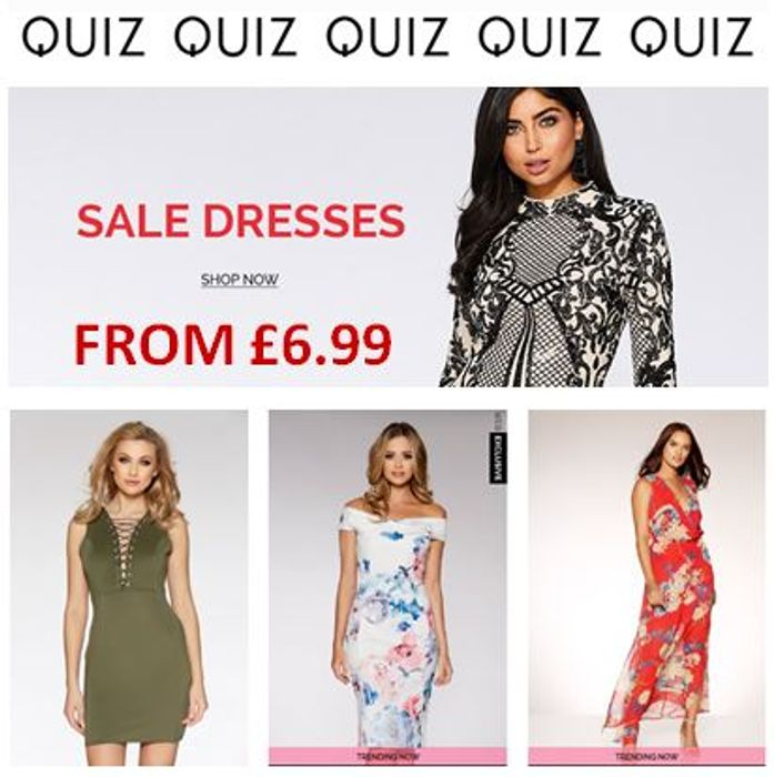 QUIZ Sale DRESSES from £6.99