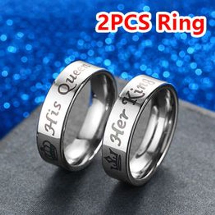 2PCS King and Queen Couple Rings