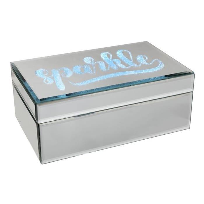 Mirror Sparkle Light up Jewellery Box