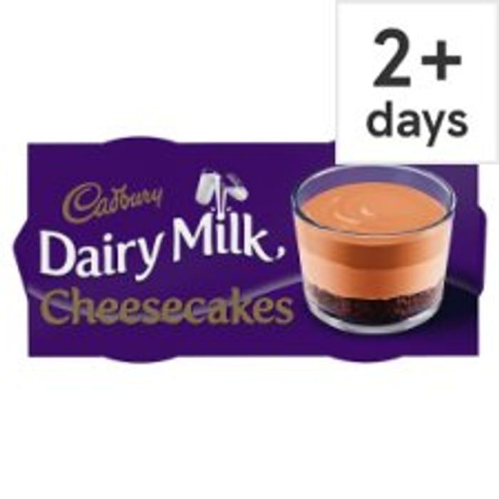 Half Price Cadbury Dairy Milk Cheesecake/ Cadbury Caramel Cheesecake 2pk