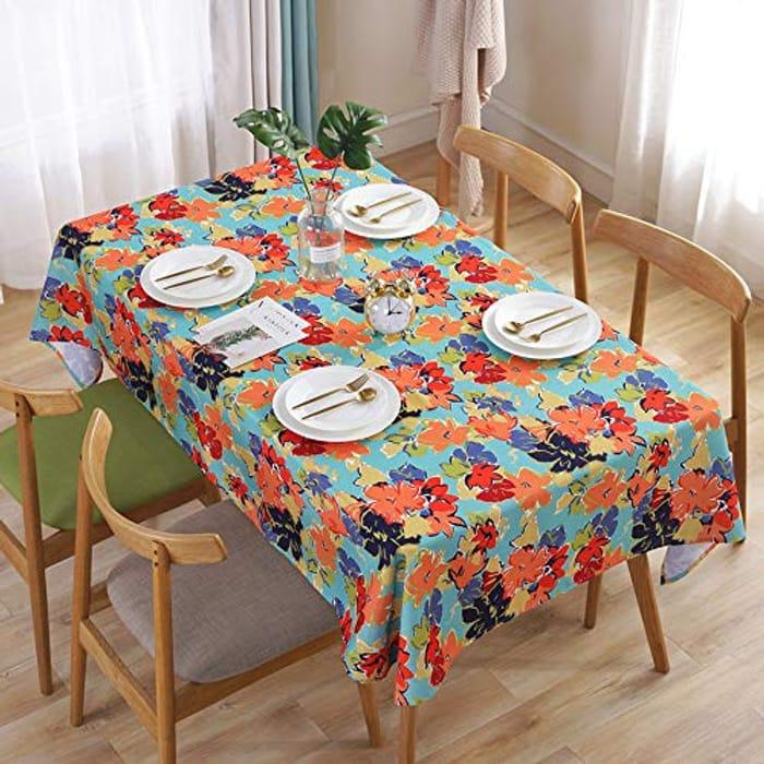 GLITCH* TreasureTrade Oil Painting Style Cololful Flowers Table