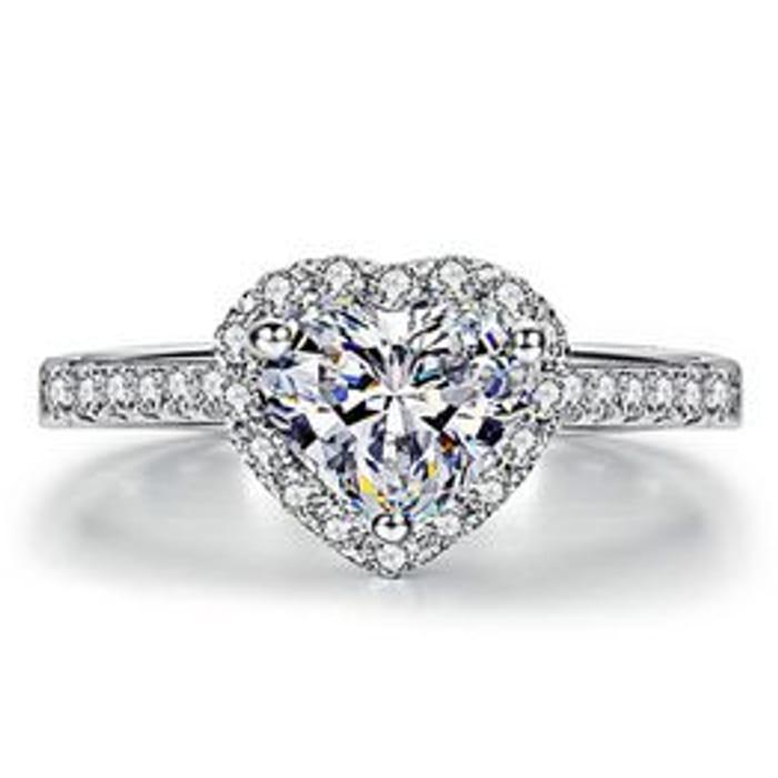 Heart-Shaped Jewelry Female Ring