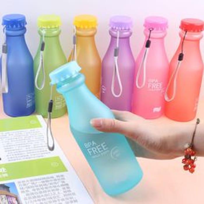 Leak-Proof Plastic 550mL BPA Free Portable Water Bottle