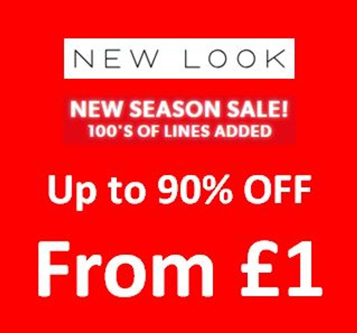 NEW LOOK SALE up to 90% off - Prices from £1
