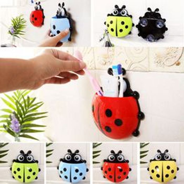 Suction Hooks Rack Toothpaste Container Ladybug