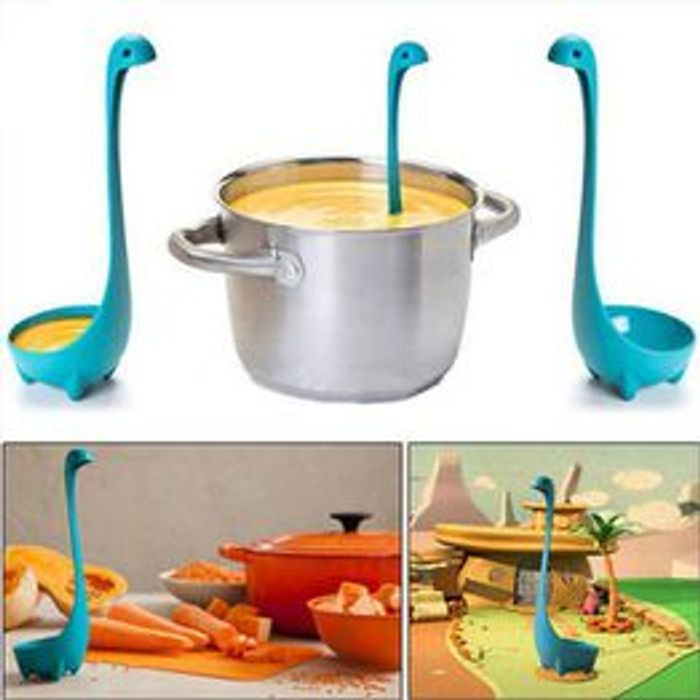 Plastic Cute Feet Stand Soup Spoon Upright Kitchen Long Handle Home Tool