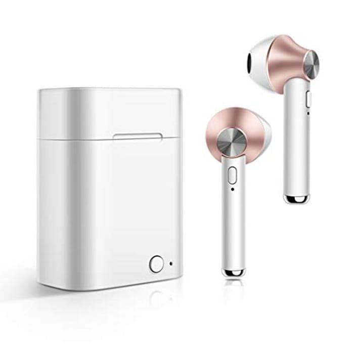 GUIGSI Bluetooth , Wireless Headphones, Mini Headset Deep Bass HiFi 3D