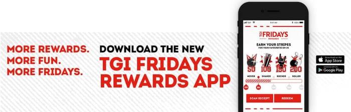 TGI Fridays App Free Appetizer and More | LatestDeals co uk