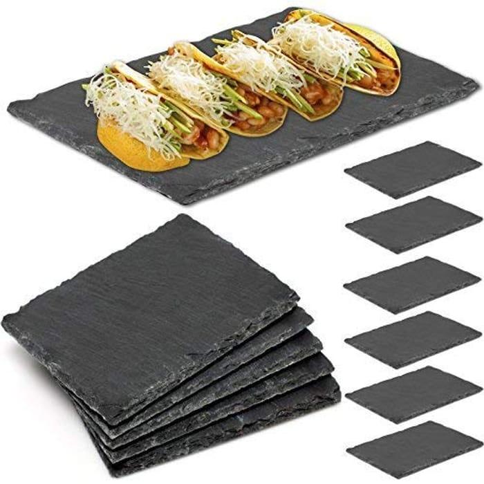 Set of 6 Mini Slate Tableware
