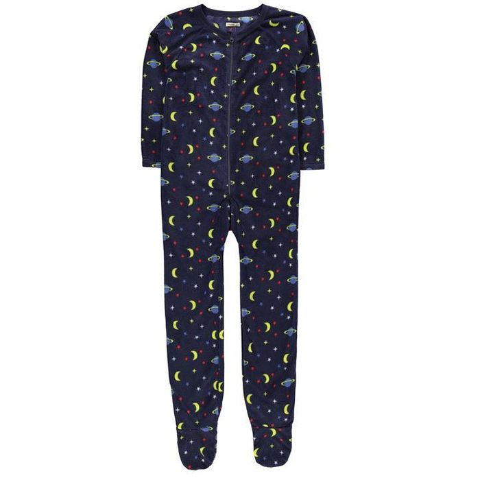 Crafted Fleece Navy Star and Planet Onesie Junior