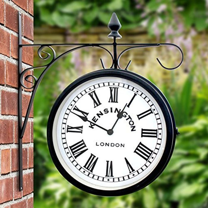 Outdoor Double Sided Station Wall Clock