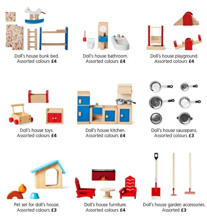 Doll House Accessories Only £3 or £4 instore