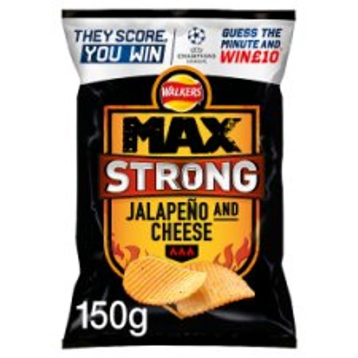 Walkers Max Strong Crisps 150g 1 At Tesco Online And