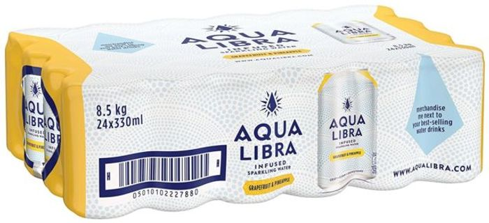 24 Pack Aqua Libra Sparkling Water for £1