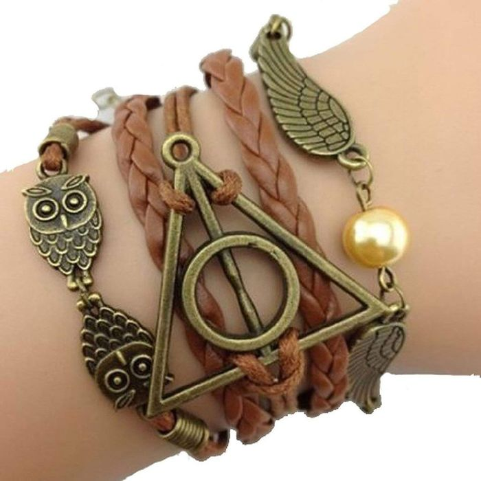 Angel Wings and Owls Weave Bracelet - Free P&P