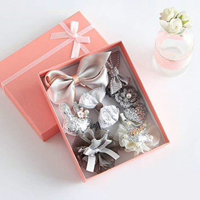 10 Piece Gift Boxed Hair Clips - Different Colours Available - 99p Delivery