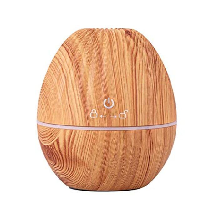 USB Ultrasonic Mute Mist Wood Grain Aromatherapy Humidifier Air Purifier