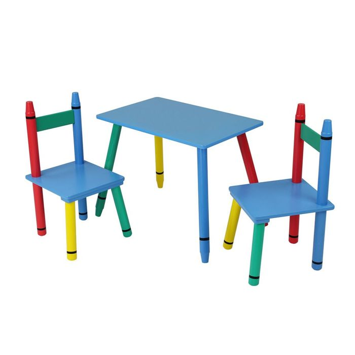 Miraculous Home Scape Kids Crayon Table And Chair Set 19 99 At Robert Ocoug Best Dining Table And Chair Ideas Images Ocougorg