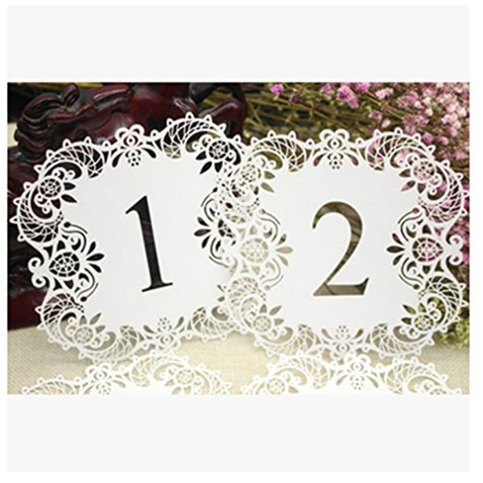 Wedding Table Numbers 1-10