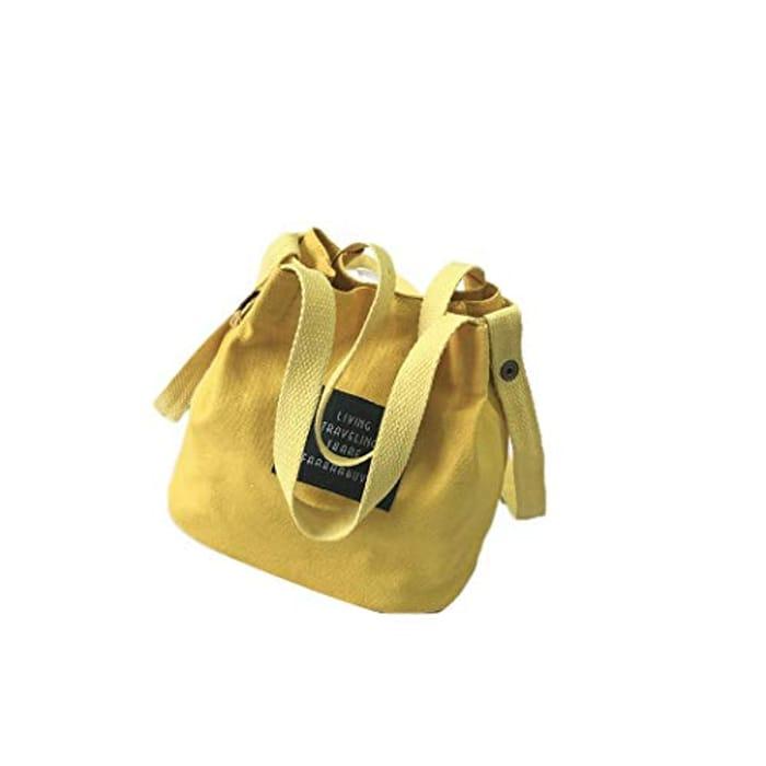 9d064cd5b83a Women Fashion Casual Retro Letter Canvas Shoulder Bag Handbags ...