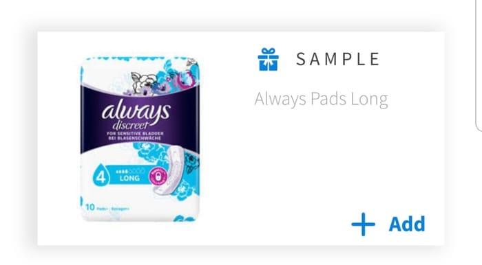 Free Always Pads Sample