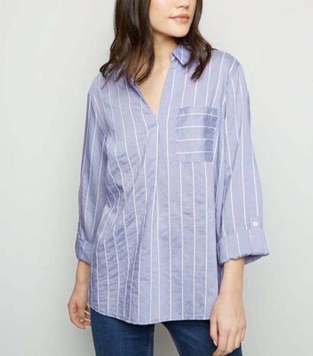 Stripe Overhead Long Sleeve Shirt