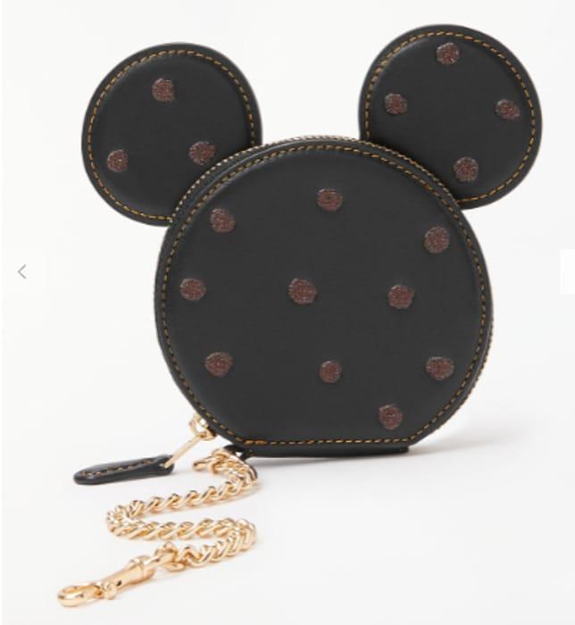 f02bd91d Disney X Coach Minnie Leather Coin Purse, Black - HALF PRICE ...