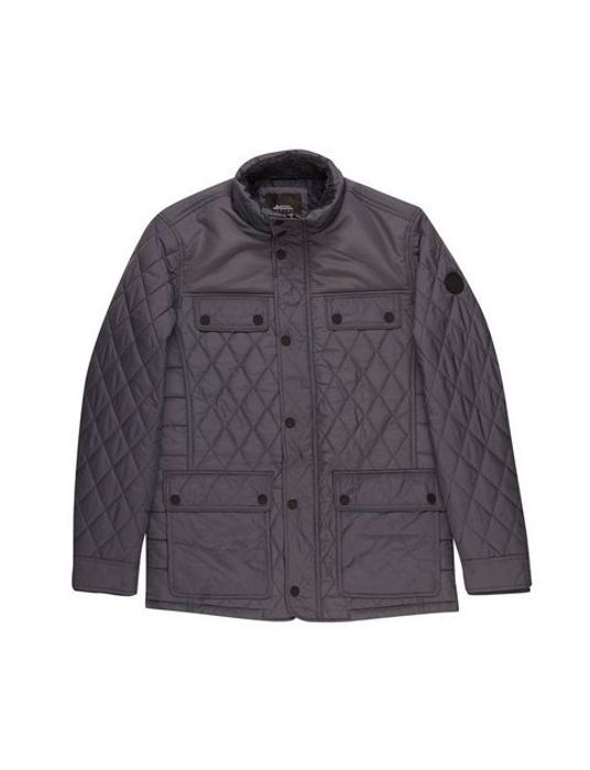 Charcoal Diamond Quilted Jacket