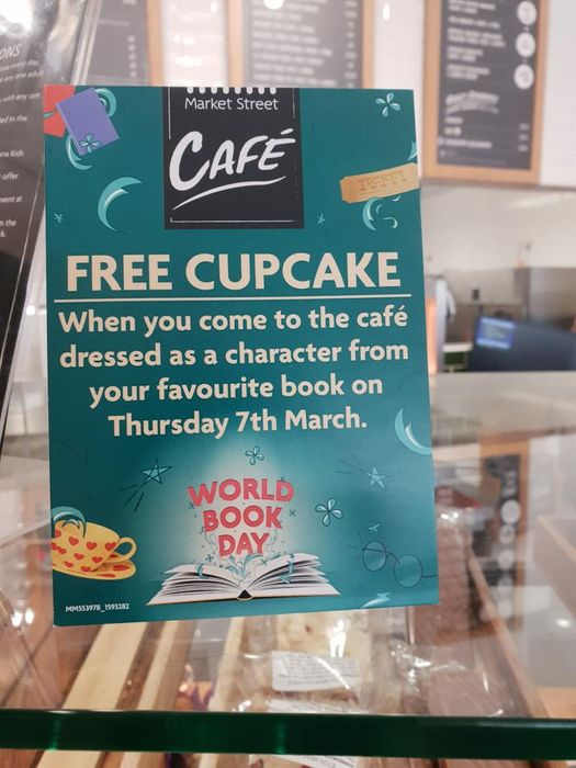 Free Cupcake at Morrison's Cafe on 7th March for Wearing World Book Day Costumes