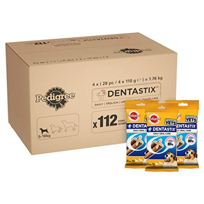 Pedigree DentaStix Daily Dental Chews for Small Dogs28 Sticks 4 X 110 gPack of 4