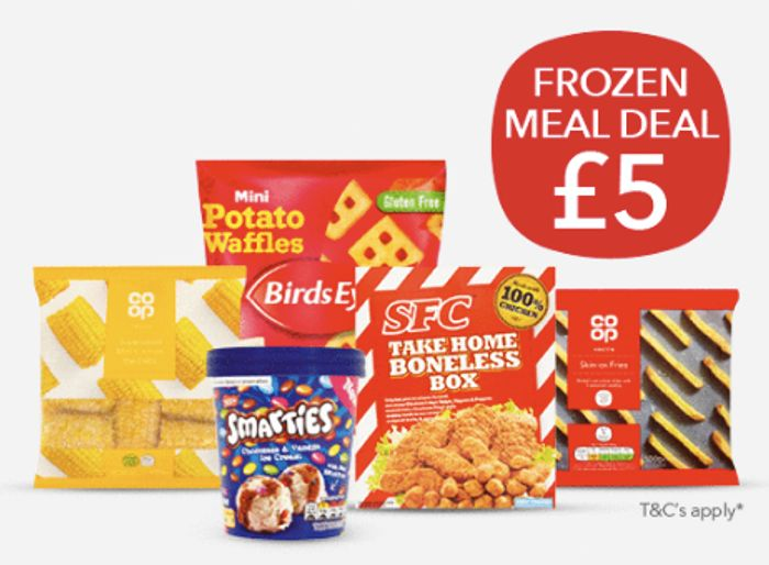 NEW Frozen Meal Deal at Co -Op FOR £5