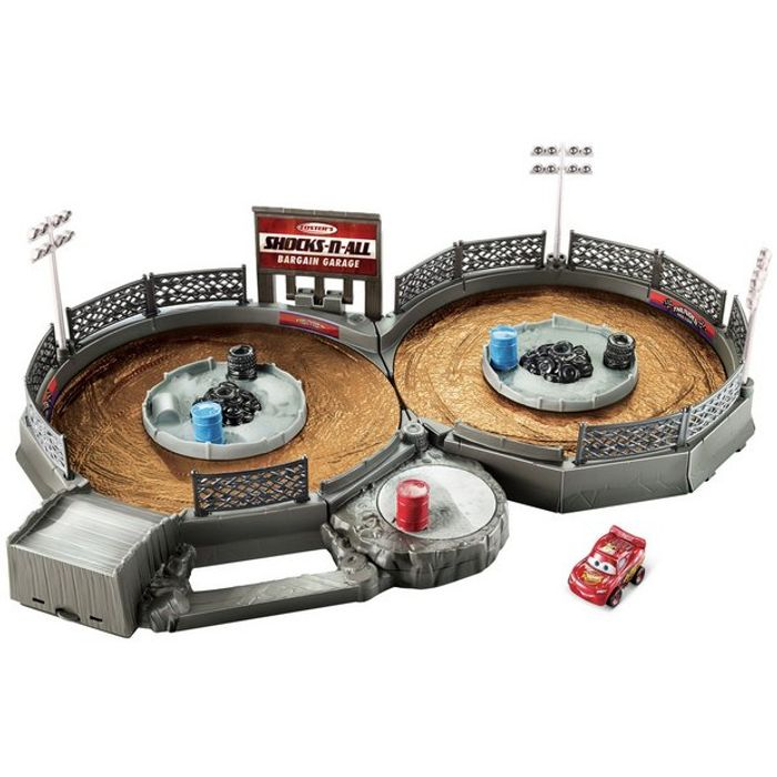 Disney Cars 3 Mini Racers Crank & Crash Derby Playset