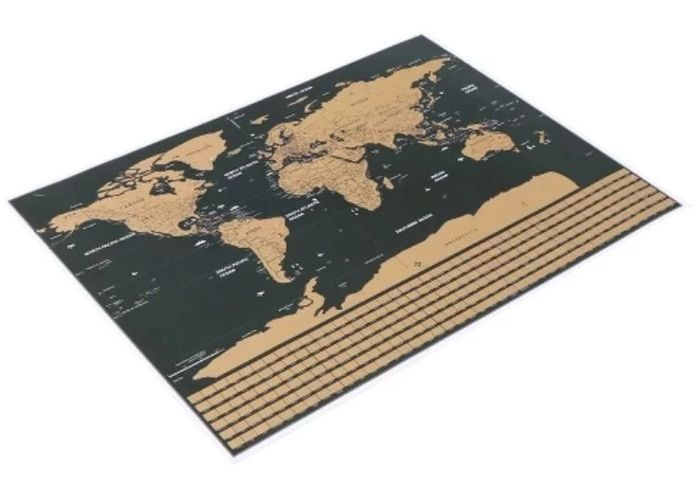 Scratch off World Travel Map with National Flag