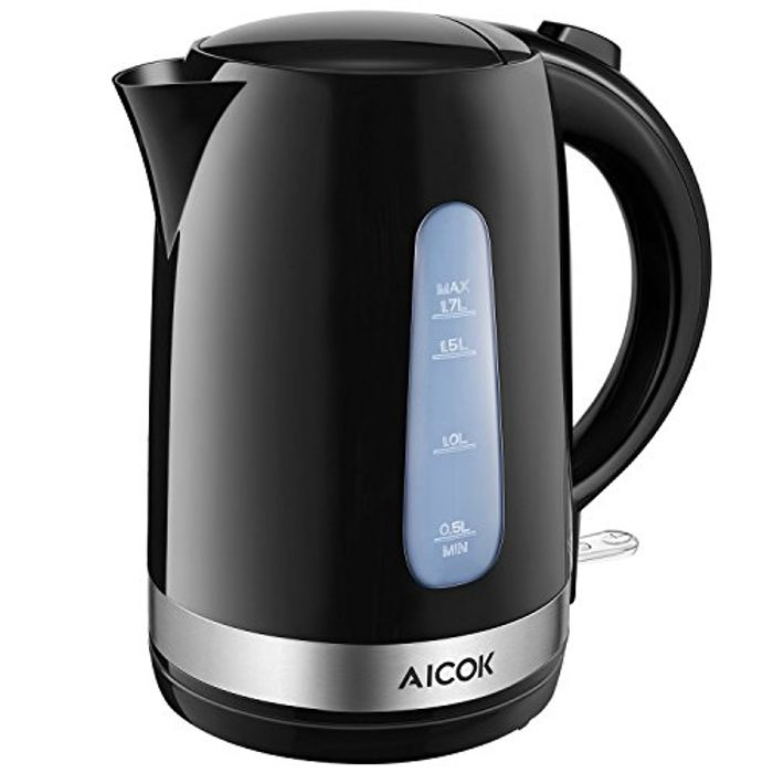 Aicok Electric Kettle 1.7L 3000W, Light-Weight Kettle