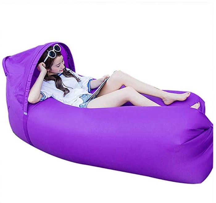 JINYJIA Lazy Lounger Sleeping Bag, Portable Outdoor Indoor Air Sleep Sofa