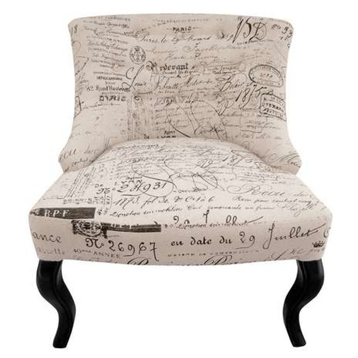 Antoinette Chair - Natural Script at Dunelm Only £64.5