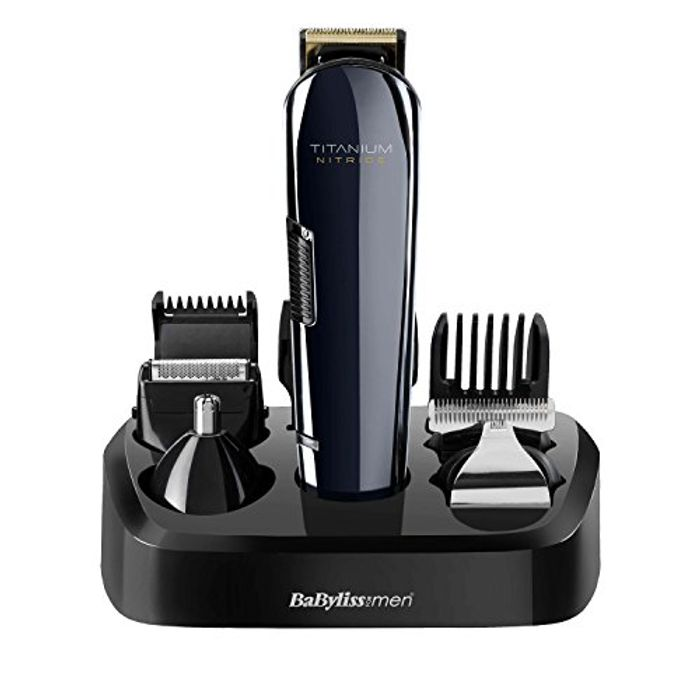 BaByliss for Men Titanium Nitride Face and Body Multi Groomer