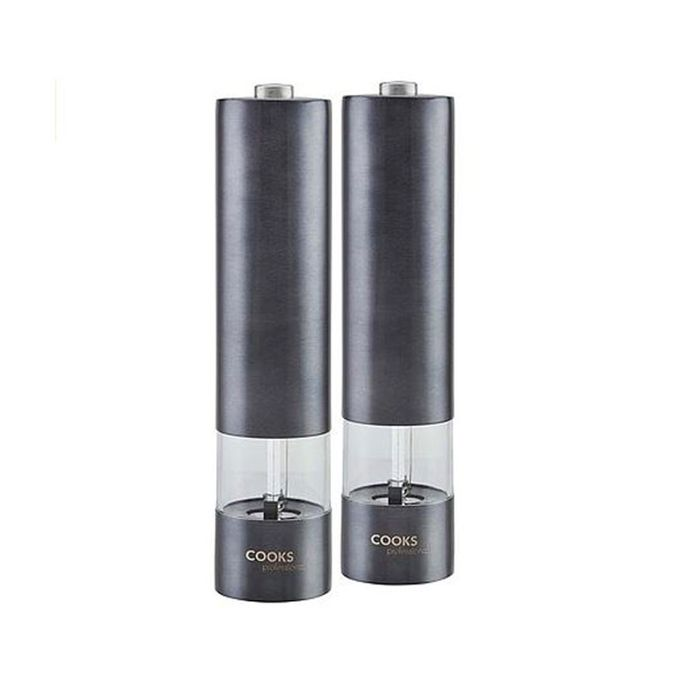 Cooks Professional Electric Salt and Pepper Mill - Graphite/rose Gold