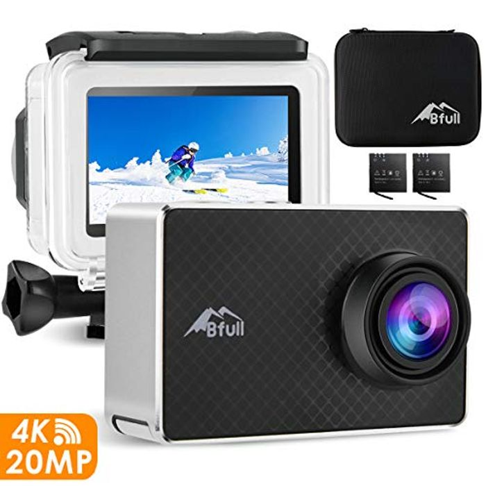 Deal Stack! BFULL 4K Action Camera WiFi 20MP - save £32