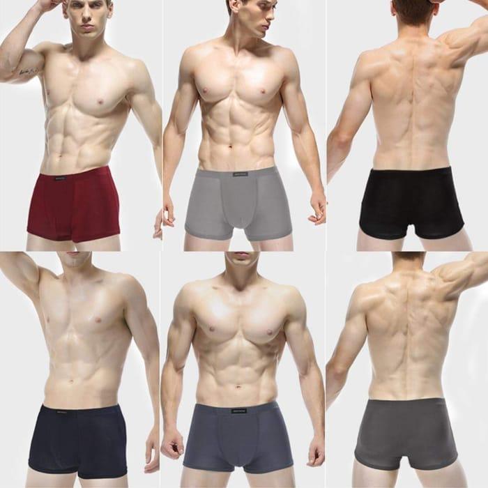 Loom Men's Soft Stretch-Knit Boxer Multipack 4-Pack