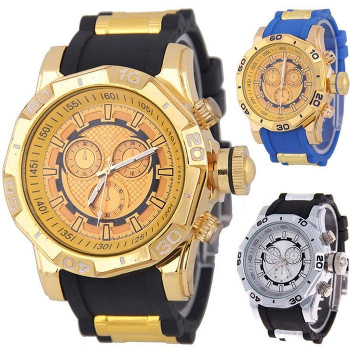 Men Fashion Casual Spiral round Dial Pointer Quartz Wrist Watch Wrist Watches