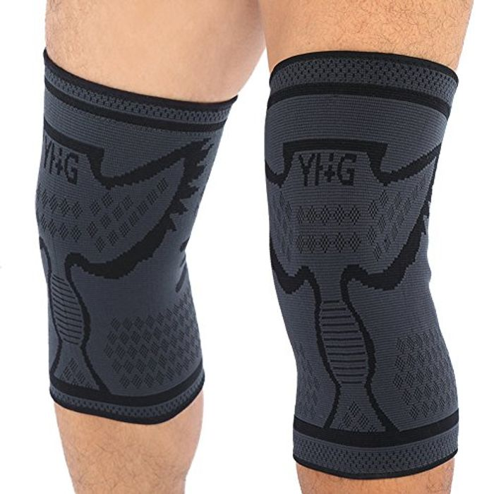 1 Pair Compression Knee Sleeve with Anti Slip Support- save £11
