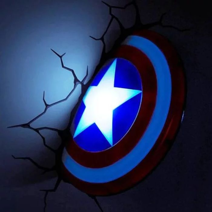 CAPTAIN AMERICA SHIELD 3D DECO LIGHT  Special Price £24.99  Was £29.99