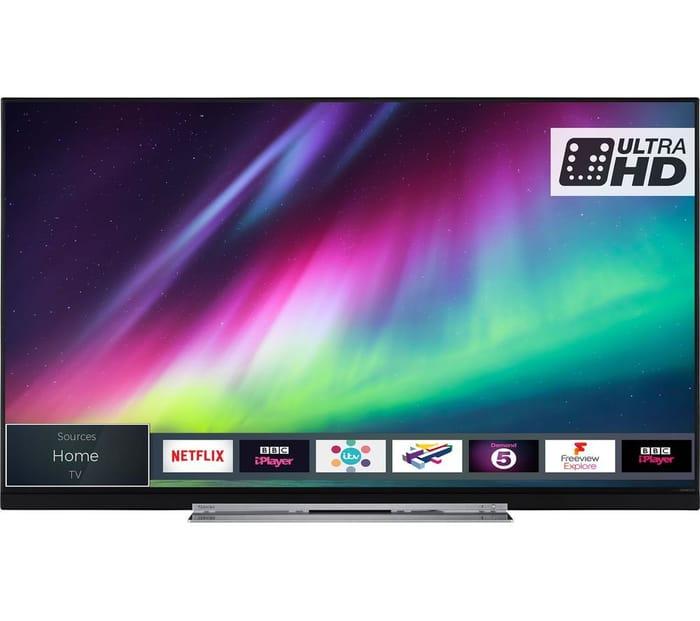 "*SAVE £150* TOSHIBA 55"" Smart Ultra HD HDR LED 4K TV"