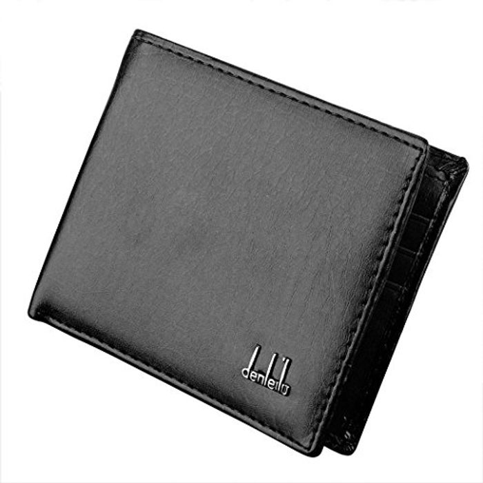 GUIGSI Mens Synthetic Leather Wallet Money Pockets Credit/ID Cards Holder Purse